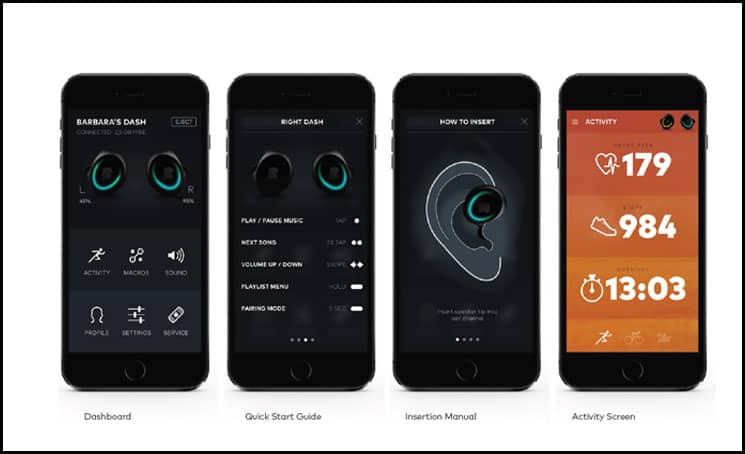 The Dash Wireless Headphones App
