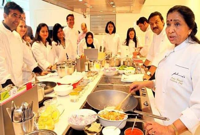 Asha Bhosle Cooking