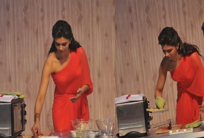 Deepika Padukone Cooking