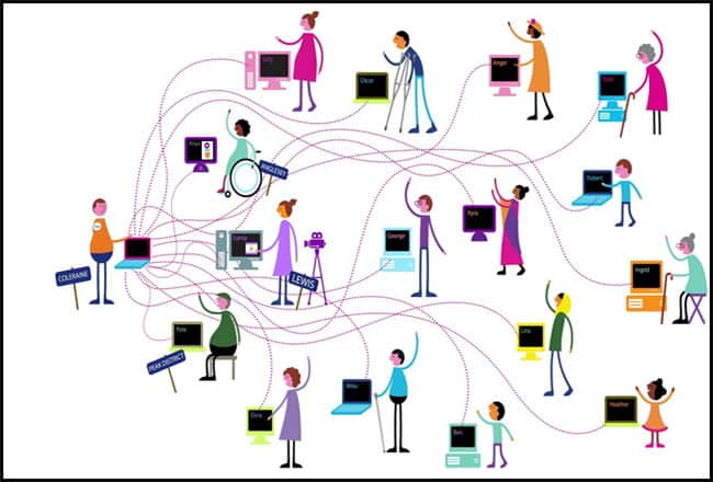 Develop an online community