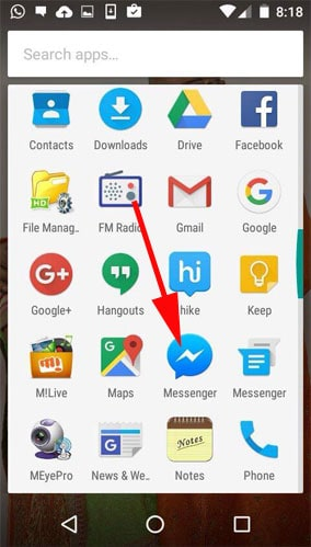 How to add multiple accounts in facebook messenger on android launch facebook messenger app on your android phone ccuart Gallery