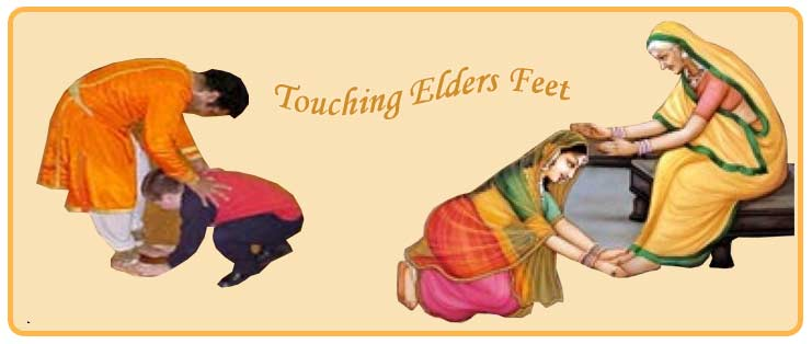 Why do we touch feet of our elders