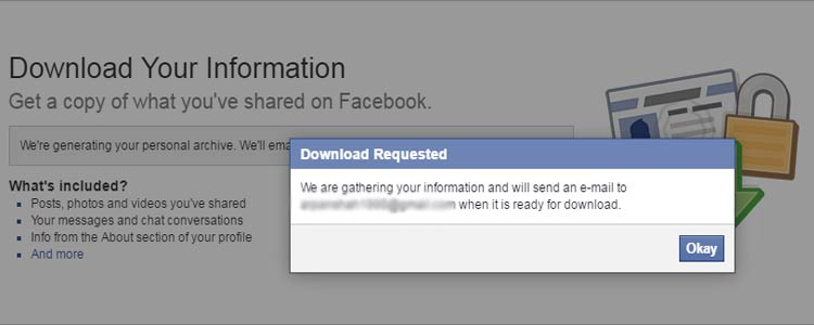 Download Request- Facebook Data
