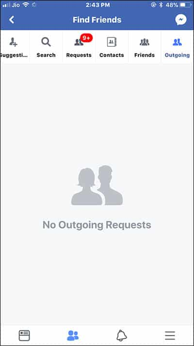Facebook Friend Request is Ignored or Rejected
