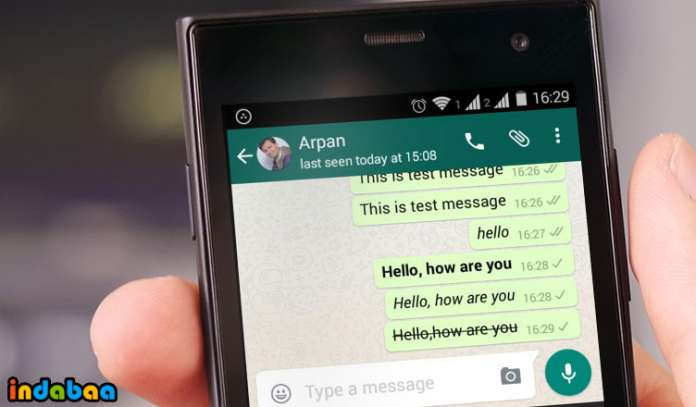 How to Type Bold, Italics and Strikethrough Text in WhatsApp Chat