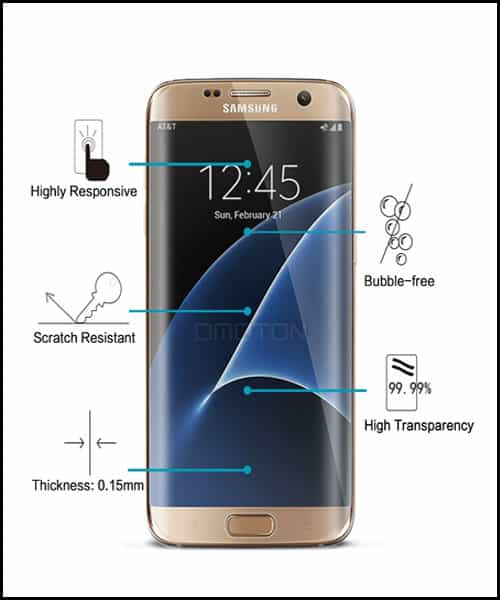 OMOTON Samsung Galaxy S7 Edge Screen Protectors