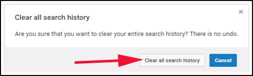Clear All Search History in Youtube