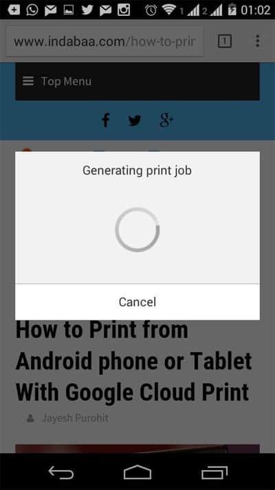 Generating Print Job