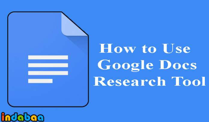 How to Use Google Docs Research Tool
