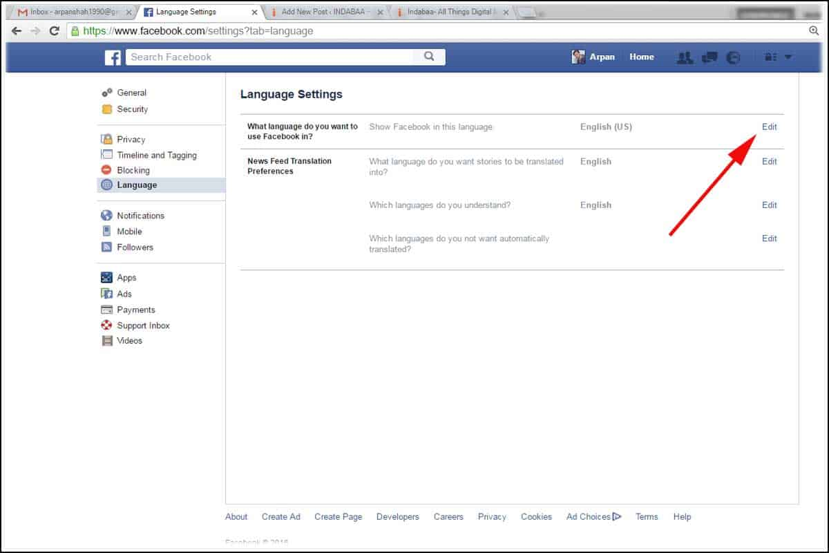 facebook login web version