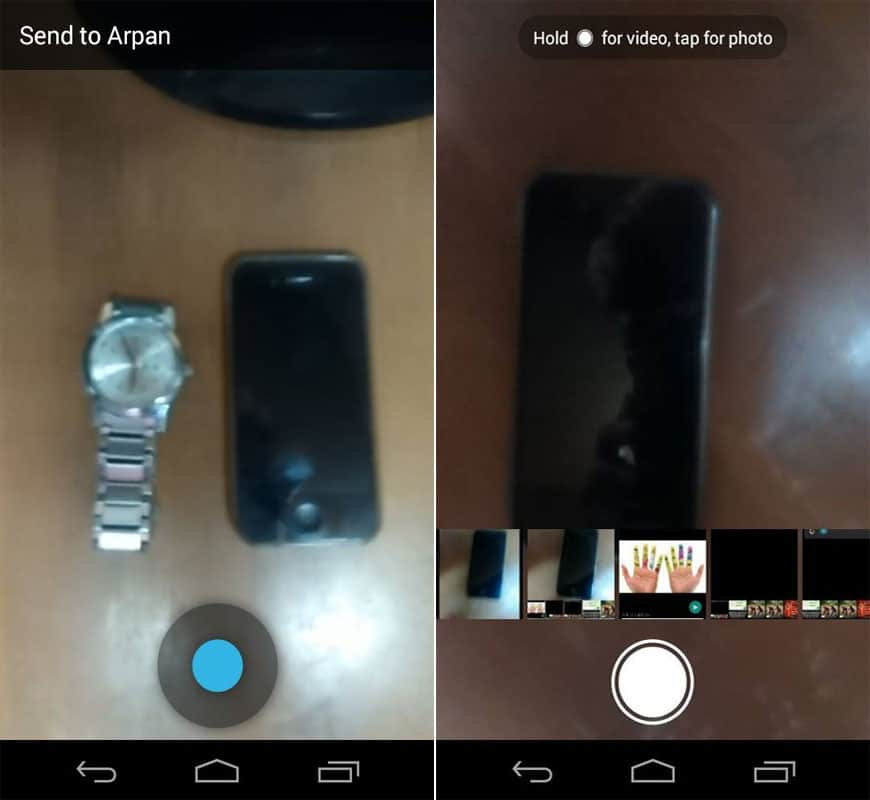 WhatsApp Inbuilt Camera Update For Android