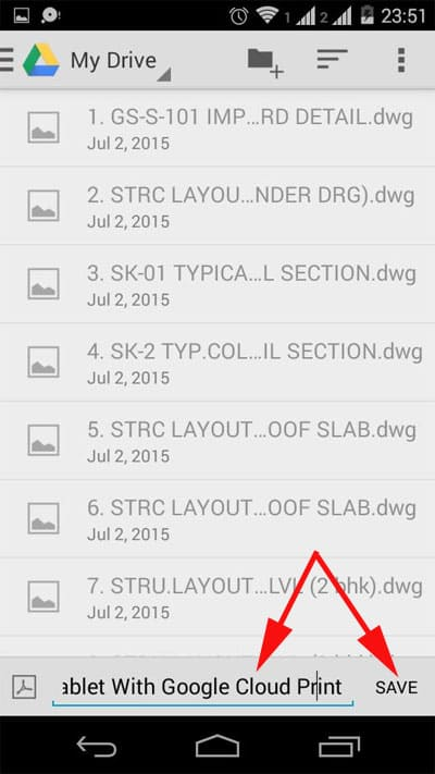 change the name of the file and select the location where you want to save your PDF