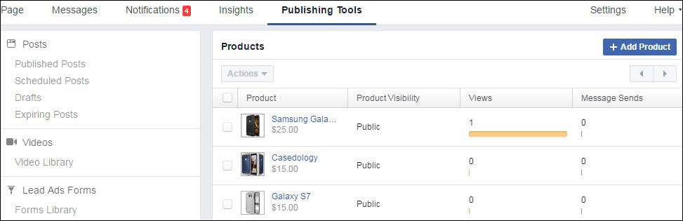 Add Products from Publishing Tools