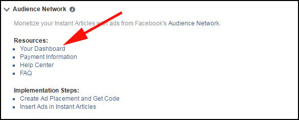 Click on Dashboard From Setting in Facebok