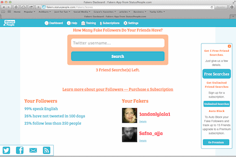 Fakers App to Find Compitetor Fake Followers