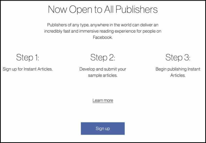 Setup Facebook Instant Articles on WordPress