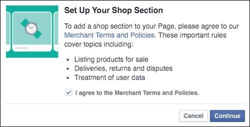 Setup your Shop Section