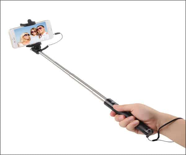 Intcrown Selfie Stick Extendable Self-portrait Monopod for iPhone