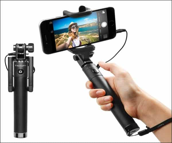 Spigen® [Battery Free] Wired Selfie Stick for iPhone