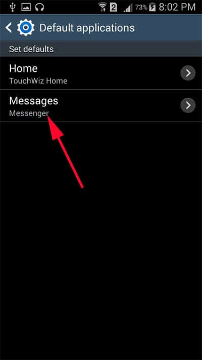 Tap on Messages