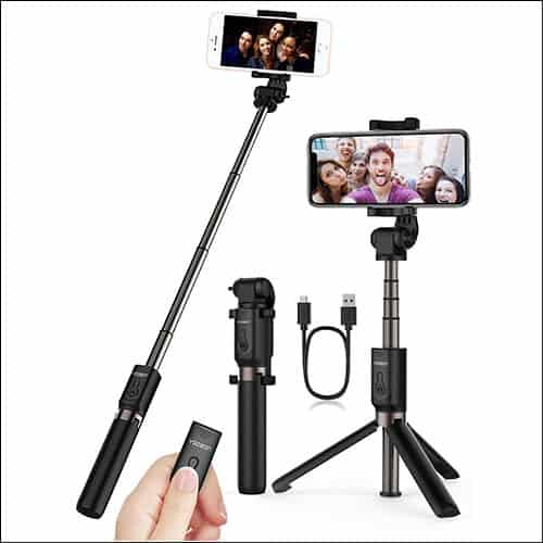 10 best selfie sticks for iphone x and iphone 8 8 plus capture perfect selfies. Black Bedroom Furniture Sets. Home Design Ideas