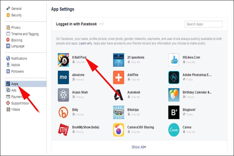 click on any app you want to make changes in App Visibility