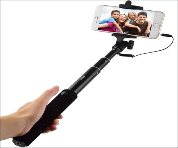iXCC Wired Extendable Aluminum Selfie Stick for iPhone