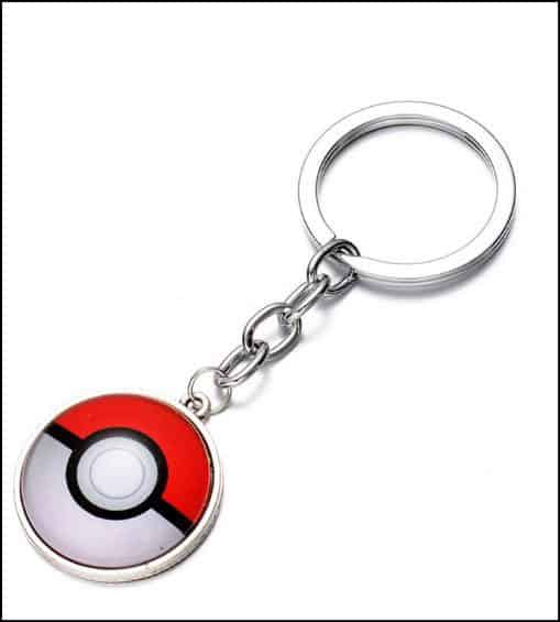 CG Costume Pokemon Go Key Chain PokeBall Key Ring Alloy
