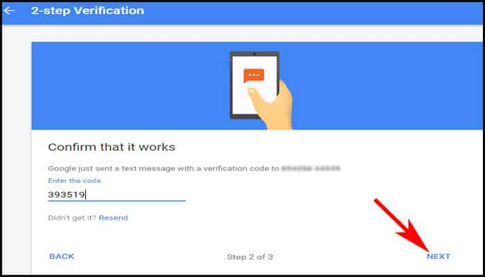 Enter six-digit verification code