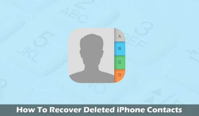 How to RecoverRestore Deleted iPhone Contacts