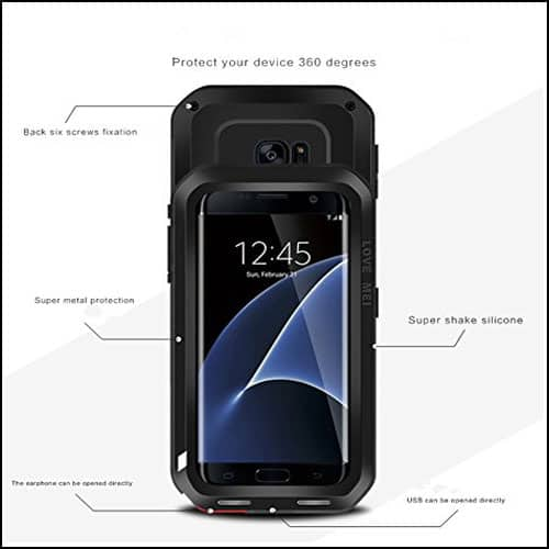 Love Mei Samsung Galaxy S7 Edge Waterproof Cases
