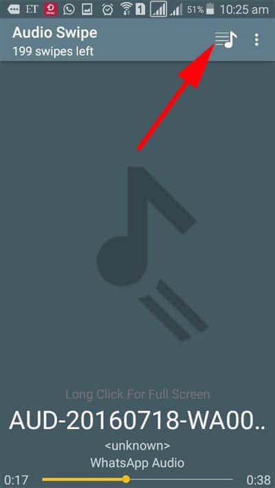 Tap on Music icon