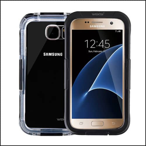 Weksi Samsung Galaxy S7 Edge Waterproof Cases