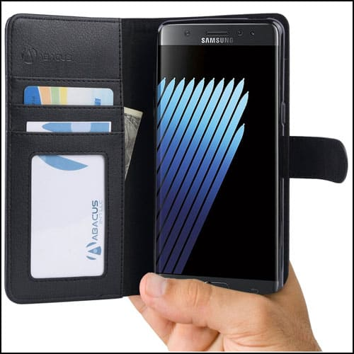 Abacus24-7 Samsung Galaxy Note 7 Leather Wallet Cases