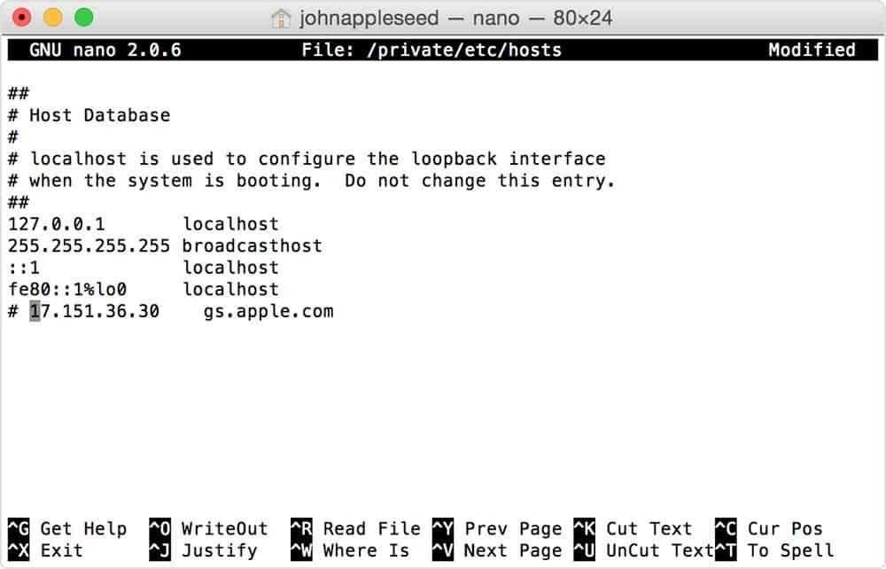 Host Files iTunes Error 3194