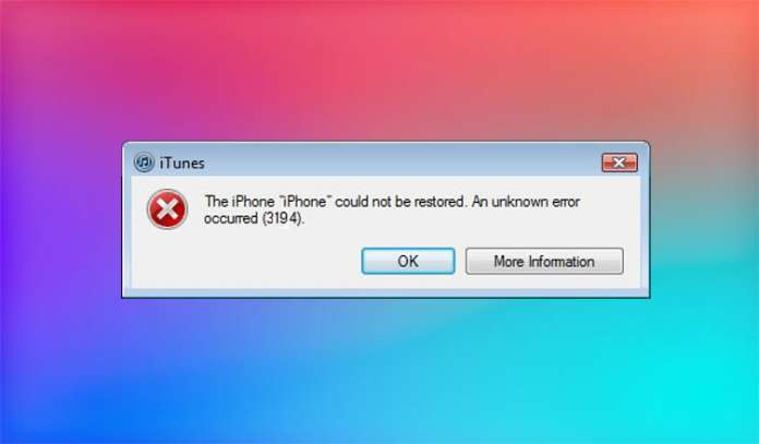 How to Fix Error 3194 in iTunes While Restoring or Updating iPhone iPad