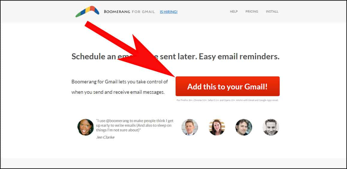 Install Boomerang to Schedule Emails in Gmail