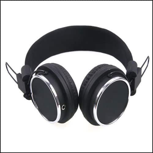 JNTworld Black Foldable DJ Overhead Stereo Earphone Headphones
