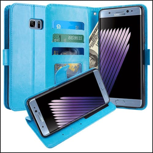 LK Samsung Galaxy Note 7 Leather Wallet Cases