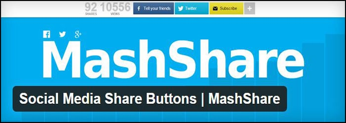 MashShare Social Media Share Buttons WordPress Plugin