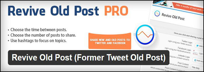 Revive Old Post Pro WordPress Plugin