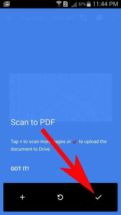 Scan to PDF Option