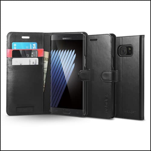 Spigen Samsung Galaxy Note 7 Leather Wallet Cases