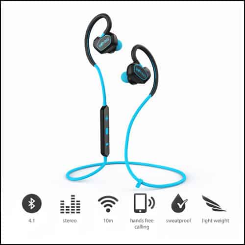 WOYING Bluetooth Headphones V4.1 Wireless Sport Stereo Headset