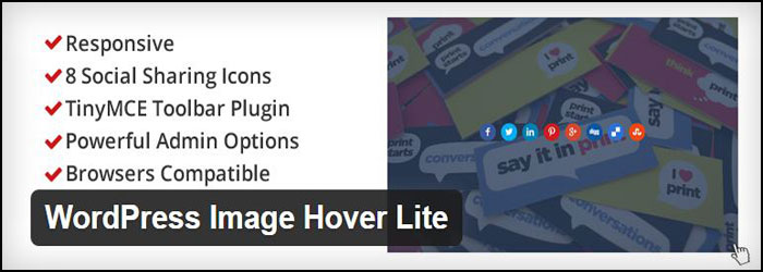 WordPress Image Hover Lite WordPress Plugin