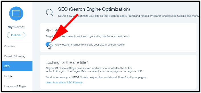 Allow Search Engine to Crawl Website
