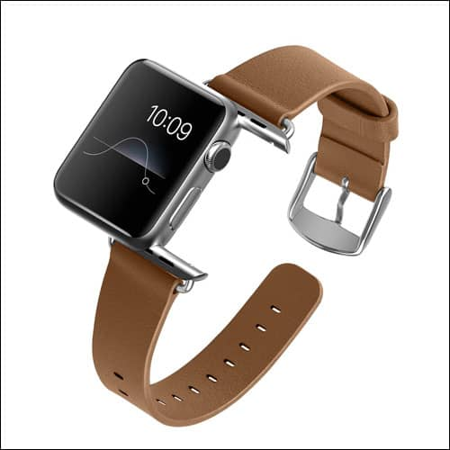 J&D Tech Apple Watch Series 2 Leather Band