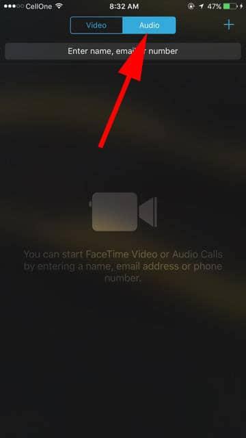 Tap on Audio