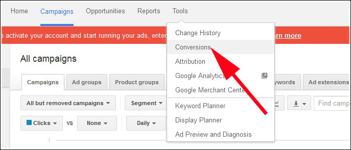 Click on Tools and Choose Conversion