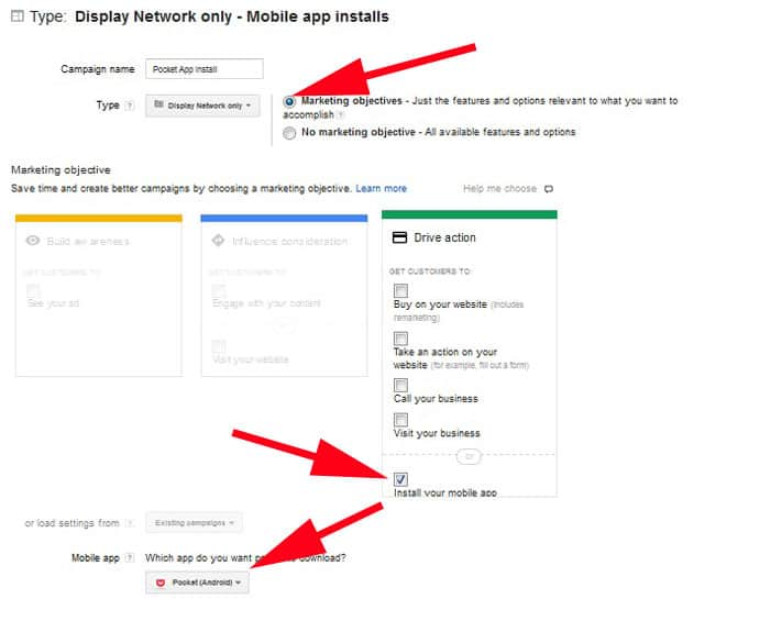 Display add network only - Mobile App Installs